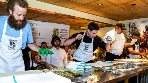 The World Oyster invitational at Bearfoot Bistro in July 2011