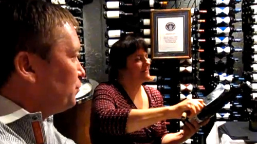 The Tradition of Champagne Sabering in the Bearfoot Bistro Underground Cellar